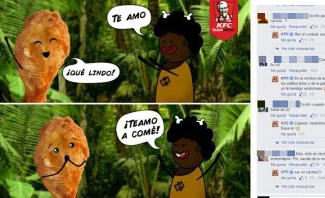 Críticas a KFC por publicar una imagen racista en Facebook