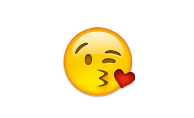 Resultado de imagen de emoji beso