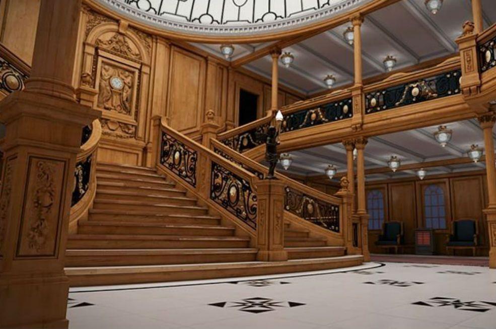 siguiente las escaleras de madera uno de los elementos ms del titanic