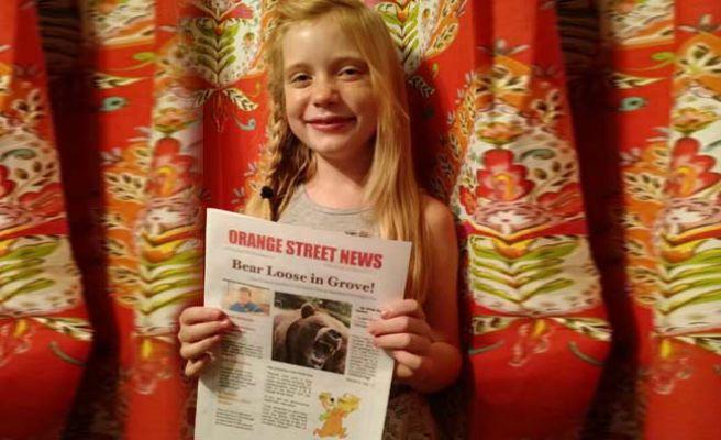 Una niña de 9 años, la periodista más joven del mundo, cubre un asesinato