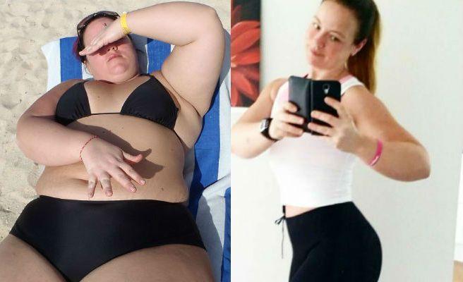 Una mujer pierde 80 kilos y se casa con su entrenador personal