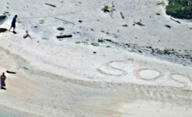 Rescatan a dos náufragos de una isla por su mensaje: SOS