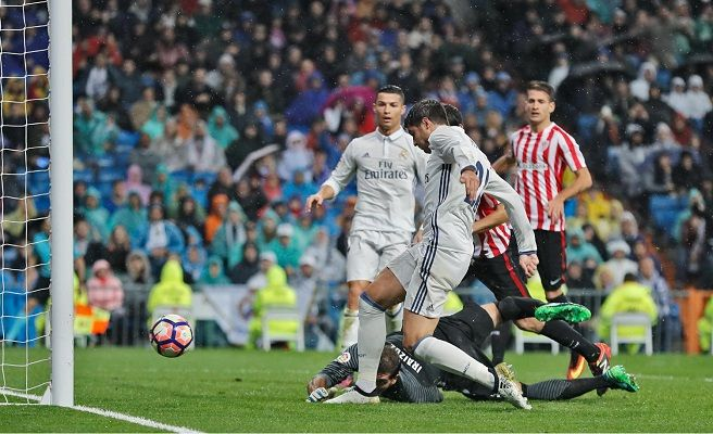 El Real Madrid gana 2-1 al Athletic Club en el Bernabéu