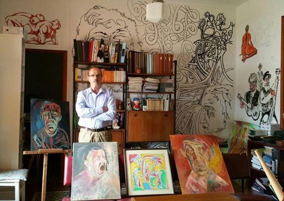 El artista guiense eugenio aguiar expone sus 39 dibujos al for Estilo literario contemporaneo