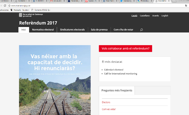 'marianorajoy.cat': la nueva web del referéndum de los independentistas