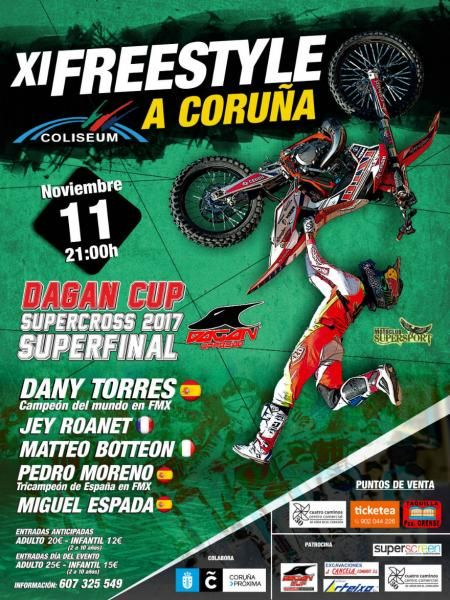 Cartel de XI FREESTYLE SUPERCROSS DAGAN CUP Ciudad de A Coruña