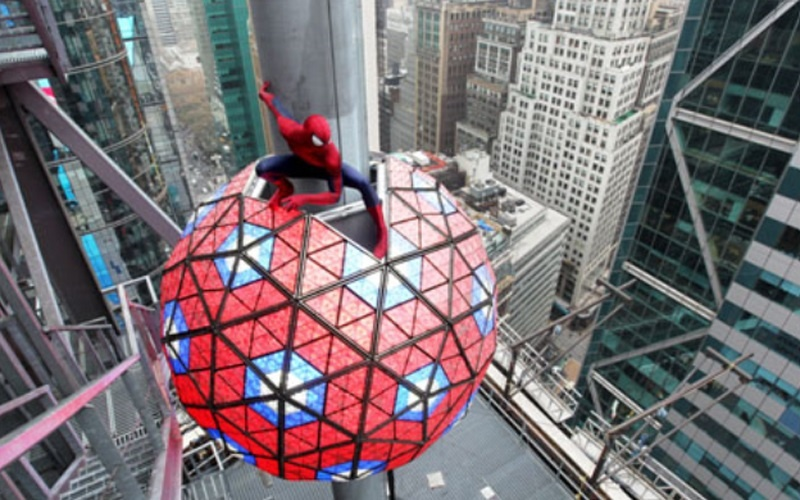 The Amazing Spider-Man toma Times Square en Nochevieja