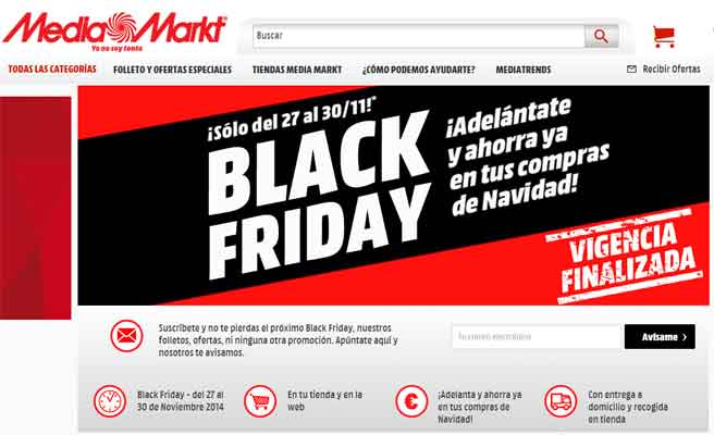 La OCU señala a Media Markt en el fraude del Black Friday