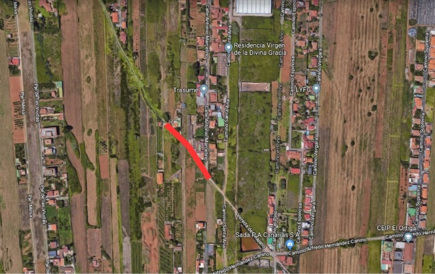 La Laguna reestructura el Camino Vereda del Majano y la reparación del tramo final del Camino Alfredo Hernández