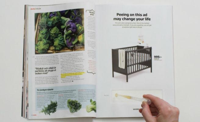 IKEA ofrece descuentos a las embarazadas que orinen sobre sus anuncios