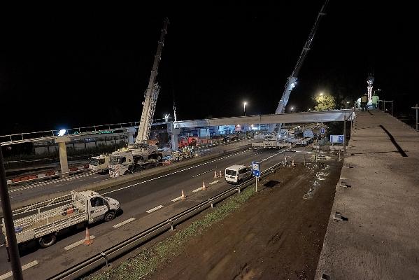 La TF-5 se cortará la noche del domingo para continuar con los trabajos en la pasarela de Los Naranjeros