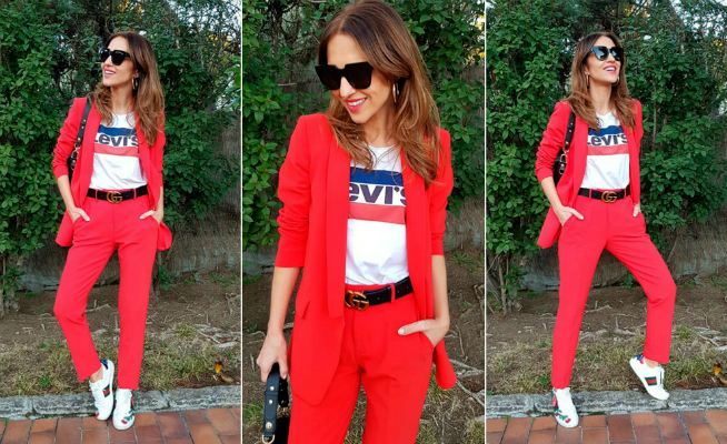 Os damos tres opciones al traje sastre rojo de Paula Echevarría