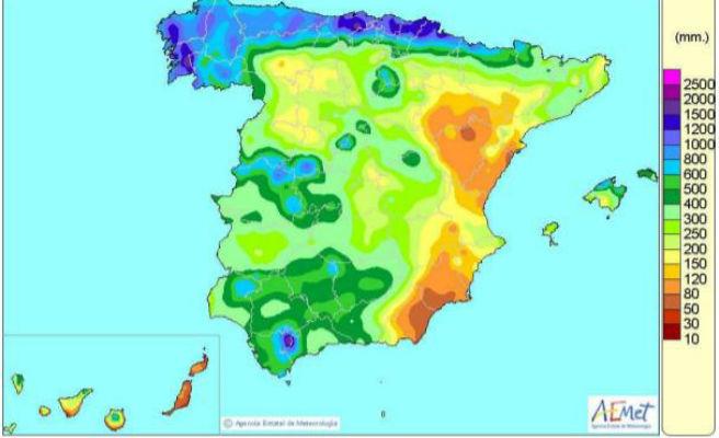 España vive el marzo más lluvioso desde al menos 2005