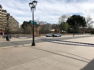 El fuerte viento provoca varios daños en Zaragoza