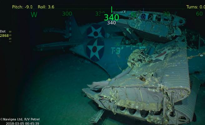 Descubierto el portaaviones USS Lexington, desaparecido en la Segunda Guerra Mundial