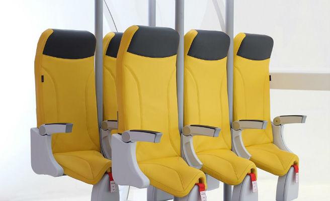 Los aviones incluirán asientos verticales para la clase turista