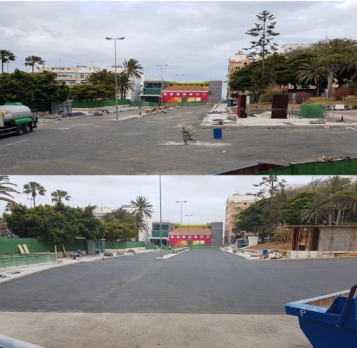 Culminan las obras de reparación del techo del aparcamiento de Don Benito en Schamann