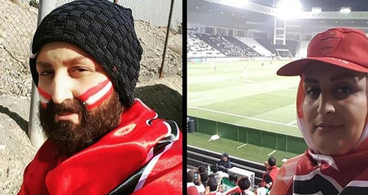 Cinco mujeres se disfrazan de hombres para animar a su equipo de fútbol en Irán