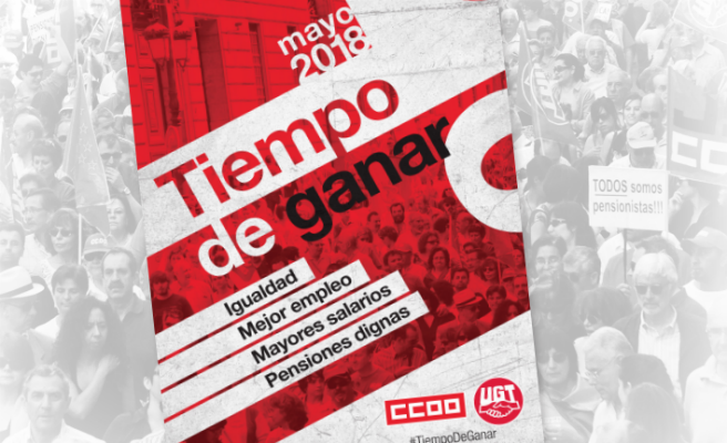 CCOO y UGT llaman a salir mañana a la calle por la igualdad, el empleo y unas pensiones dignas