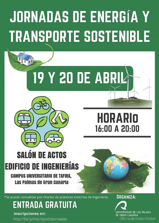 La Oficina de Sostenibilidad de la ULPGC organiza las Jornadas de Energía y Transporte Sostenible