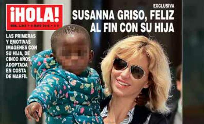 Nueva imágen de Susanna Griso y su tercera hija tras su llegada a España