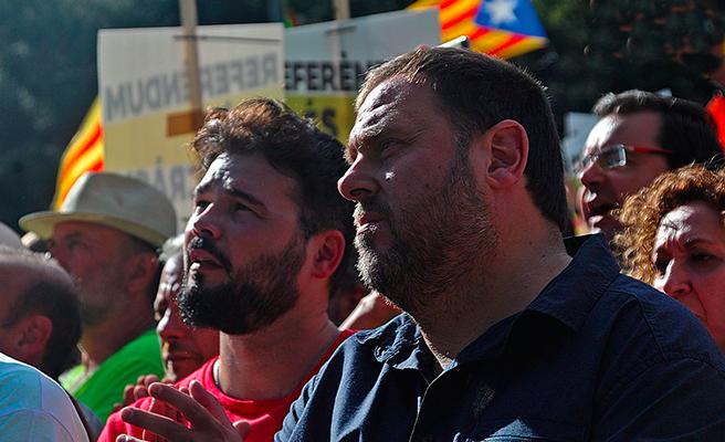 Los irónicos tuits de Rufián durante el Barça-Madrid