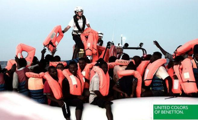 """Benetton utiliza imágenes de los migrantes del """"Aquarius"""" para una campaña"""