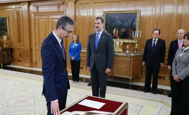Hernández de Cos promete ante el Rey el cargo de gobernador del Banco de España