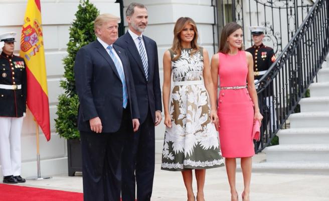 Así ha sido la visita de los Reyes a la Casa Blanca con Trump y Melania