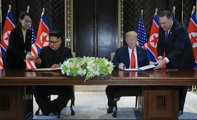 """España celebra el """"paso"""" dado en la reunión entre Trump y Kim Jong-un celebrada en Singapur"""