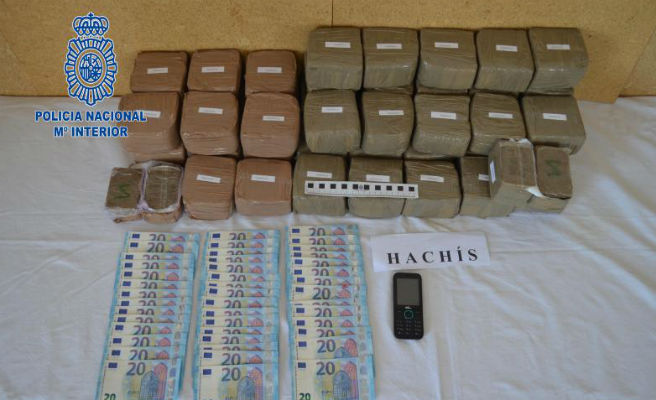 Interceptado un narcotraficante que pretendía cruzar la frontera con 23 kilos de hachís