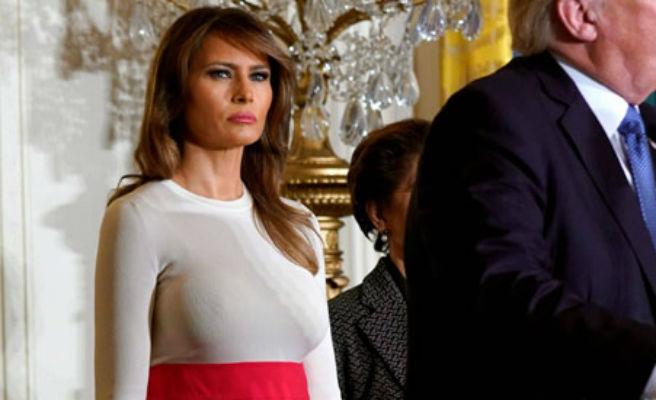 Las redes sociales se burlan del estilismo de Melania Trump