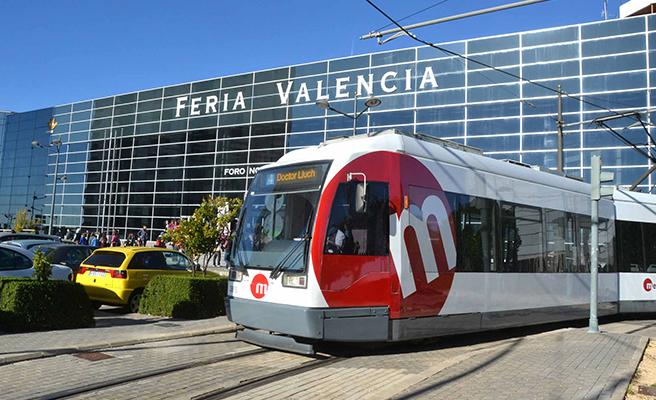 Metrovalencia ofrece servicios especiales de tranvía a Feria València del 22 al 27 de julio
