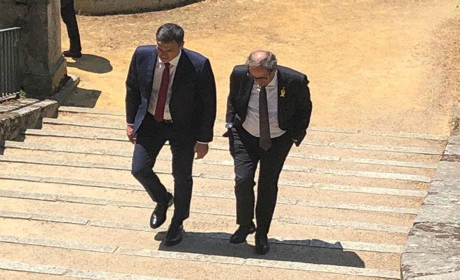 Torra avisa a Sánchez de que no renuncia a ninguna de las vías para alcanzar la independencia
