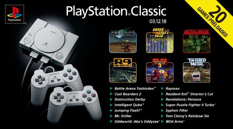 Esta es la lista de juegos de Playstation Classic