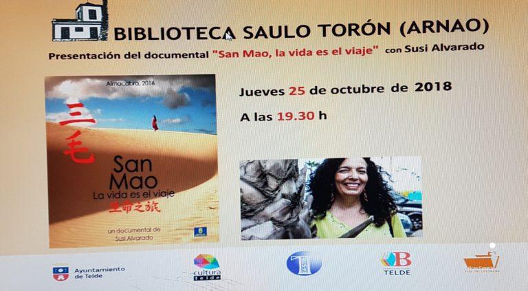 """TELDE: Estreno en Telde de la proyección """"San Mao, la vida es el viaje"""""""
