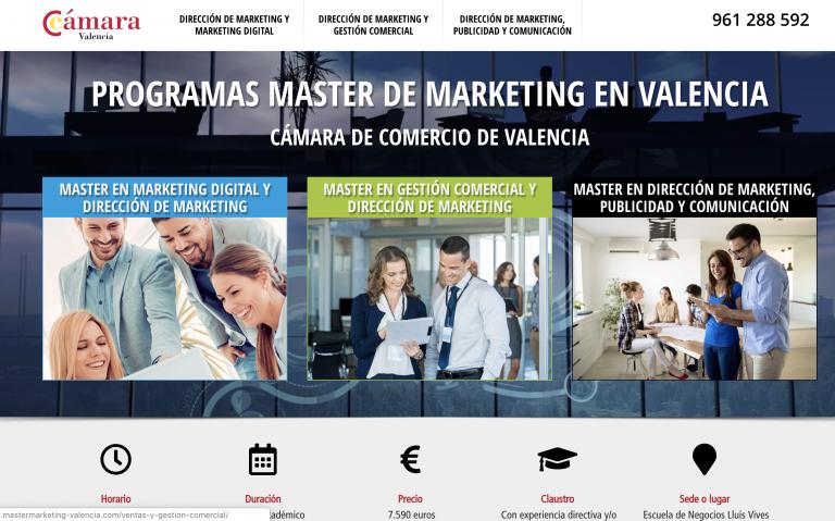 La Cámara de Valencia presenta sus nuevos programas de Marketing para el curso 2019-20