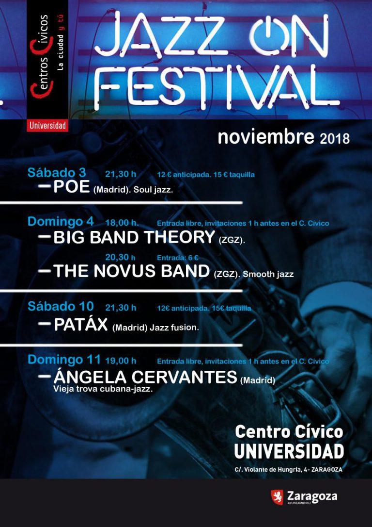El Centro Cívico Universidad de Zaragoza abre sus puertas al Jazz On Festival a partir de este fin de semana