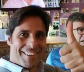 Fran Rivera se justifica por el polémico vídeo en el que visita un bar franquista