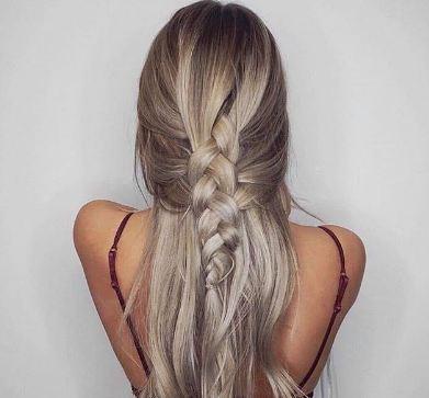 Color de pelo blanco ceniza