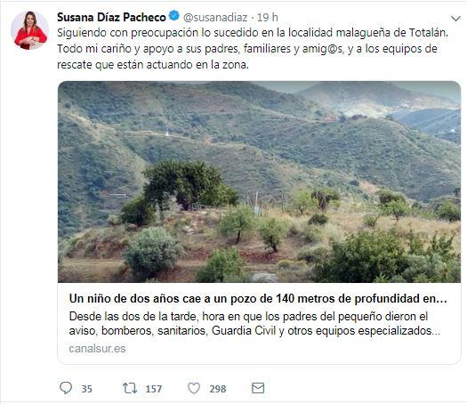 """Famosos se solidarizan con Julen: """"Confiemos en que se le pueda rescatar"""""""