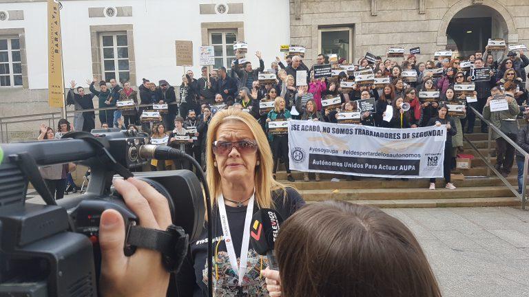 Los Autónomos Gallegos de AUPA se concentraron en Vigo, Ourense y A Coruña
