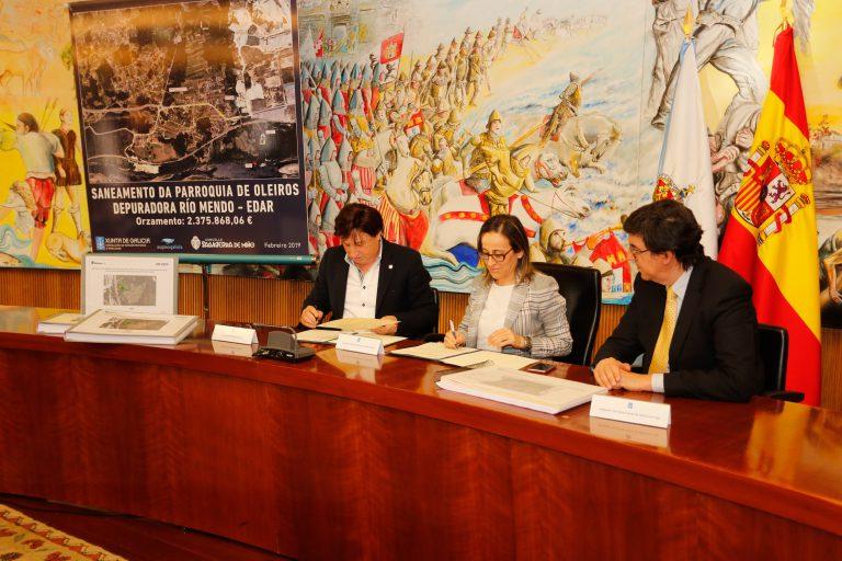Acuerdo para acometer las nuevas obras de saneamiento en Oleiros