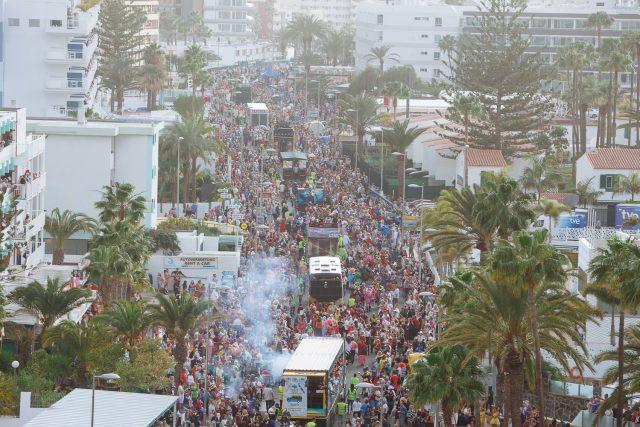 Resultado de imagen de Maspalomas amplía a 111 el cupo de carrozas de su Carnaval
