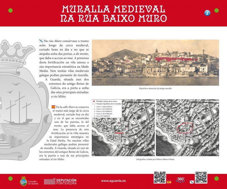 A Guarda mejora la señalización de 15 monumentos e hitos históricos