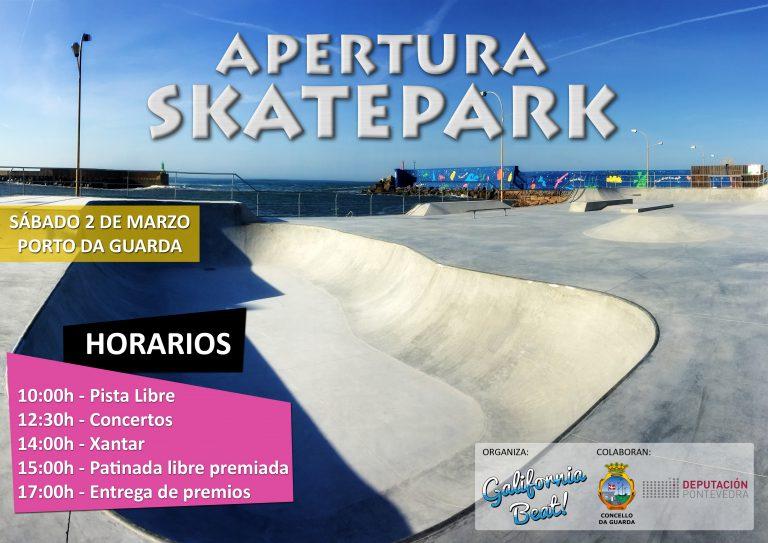 Apertura del Skate Park Atalaia este sábado en A Guarda
