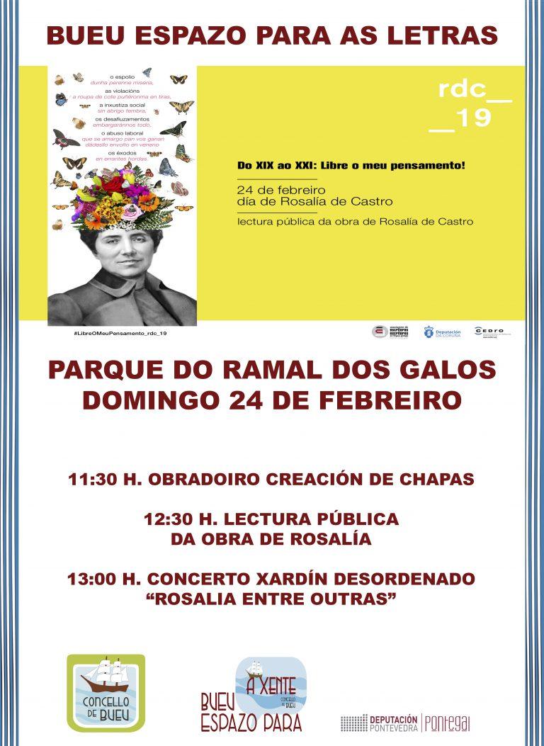 El Concello de Bueu se une a la celebración de los actos del Día de Rosalía