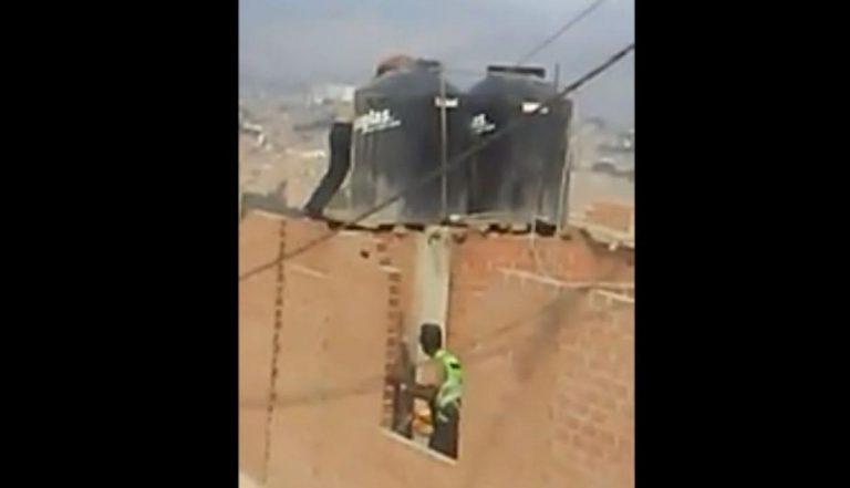 Detenida por encerrar a sus dos hijas menores en un tanque de agua