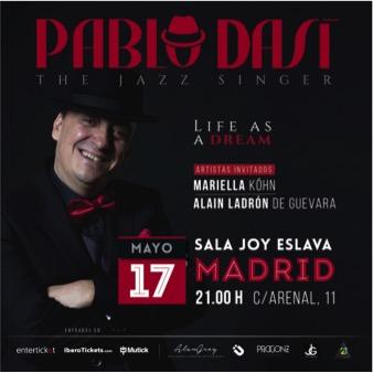 La voz del Jazz y el Swing llega a Madrid, Pablo Dasi