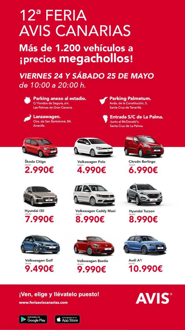 7d370f252 Los próximos días 24 y 25 de mayo, Avis Canarias ofrecerá la oportunidad  única de conseguir el coche ...